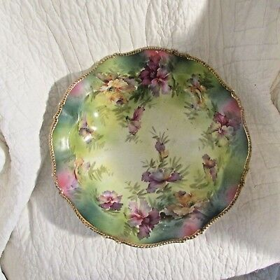 RS Germany Hand Painted Gilded Bowl