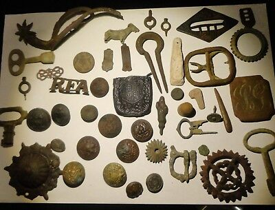Metal Detecting Finds Group Of Items