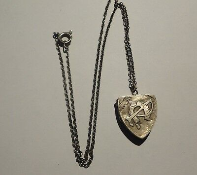 Silver Equestrian Locket Hallmarked Metal Detecting Find With Chain