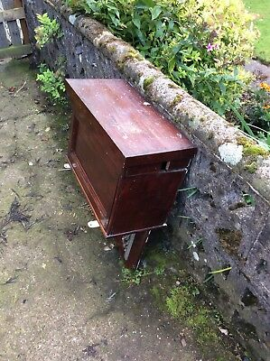 Original Antique High Level Lined Wooden Mahogany Victorian Toilet Cistern