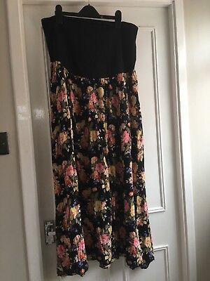 Over Or Under Bump Mayernity Skirt Size 16