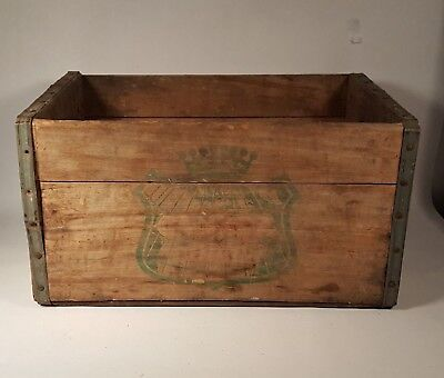 """Vintage Canada Dry Soda Wooden Crate 16"""" x 11"""" x 8.5"""" Wood Box"""