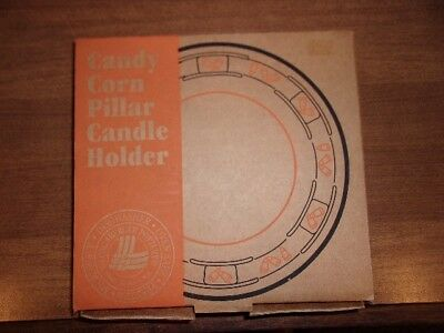 2000 The Longaberger Company Candy Corn Pillar Candle Holder Item 36391 MIB!