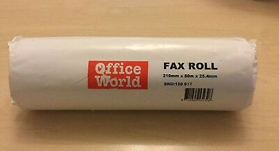 210mm x 50m x 25.4mm THERMAL PAPER FAX ROLLS QTY **1** Office World SKU:120 917