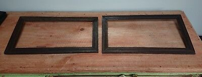 PAIR OF Vintage wooden art picture frames antique wood original wedding old