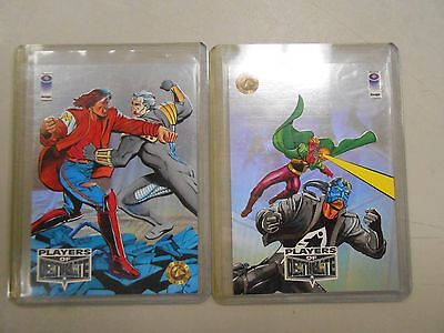 1993 Players of Deathmate chase insert foil card lot of 2! P2 and P3! NM/MN!