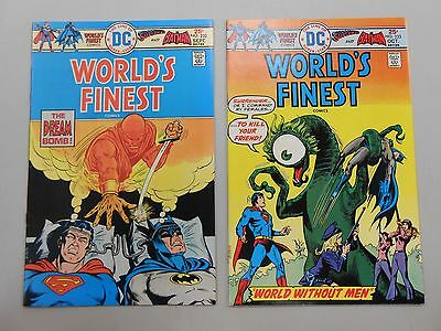 World's Finest Comics lot of 2! #'s 232 and 233! VF8.0+ and FN/VF7.0! DC! look!