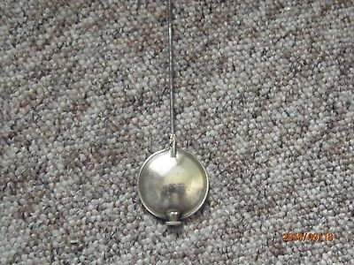 Antique/Vintage mantel clock movement brass pendulum.