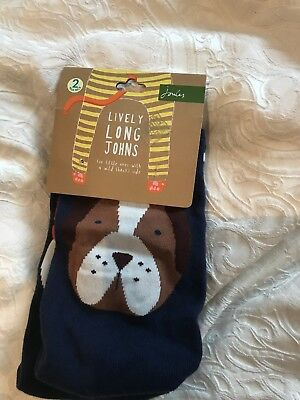 Joules Baby Boys Lively Long Johns 6-12 Months Bnwt Dog & Fox 🦊
