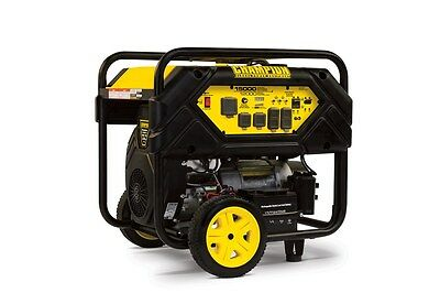 100111R- 12,000/15,000w Champion Portable Generator, W/ 50AMP - REFURBISHED