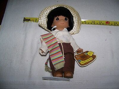 PRECIOUS MOMENTS CHILDREN OF THE WORLD, MEXICO, JUAN---Boy Doll #1534