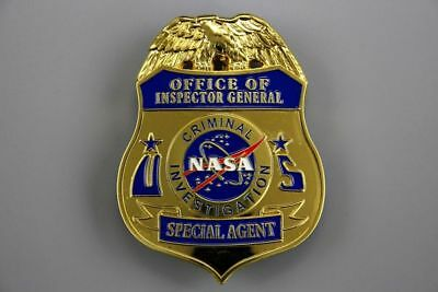 US Police Badge NASA Office of Inspector General Investigation SPECIAL AGENT