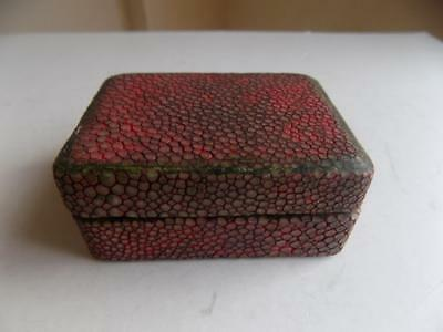 Art Deco Vintage Stunning Two Compartments Shagreen Stamp Box