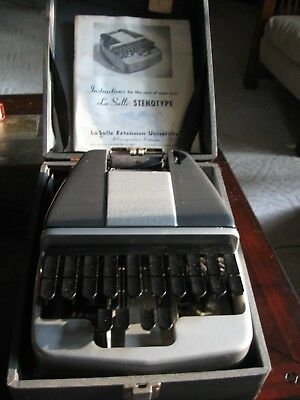 Vintage LaSalle Stenograph Court Reporter for Recondition or Parts
