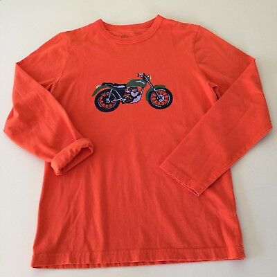 """MINI BODEN Boy's Awesome """"MOTORCYCLE"""" Long Sleeve Shirt. 9-10 years. EXCELLENT!!"""