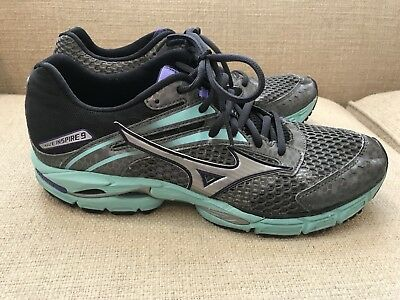 5a25ff4a1431 Ladies Mizuno Wave Inspire 9 - Running Shoe - Women's Size 11.5 - Grey  Turquoise