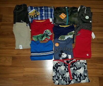 NWT Boy's Fall/ Winter Clothes Lot ~ Size 4/4T~ Brand Names Pants L/S Shirts