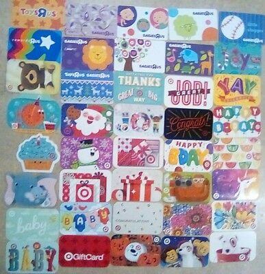 Gift Card Collector Starter Different 40 pc Lot Toys R Us/Target