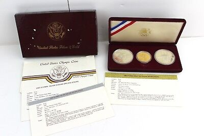 1983-1984 United States Silver & Gold Olympics Coin Set - 90% $10 Gold