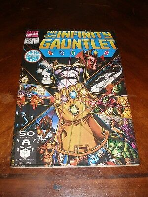 Infinity Gauntlet 1  July 1991 Copper age Marvel comic