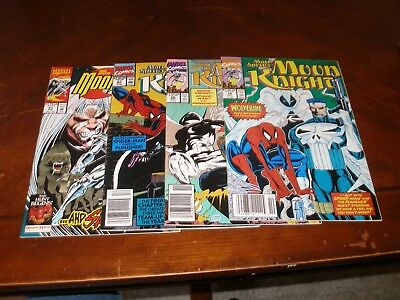 Marc Spector: Moon Knight (Spider-man) 19,20,21,51 Copper age Marvel comic lot