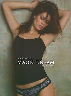 Completo intimo donna, canotta spallina sottile e slip stampa pizzo Magic Dream
