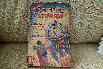 Futuristic Science Stories 5 Nightmare Planet N A Lazenby 1950's British  RARE