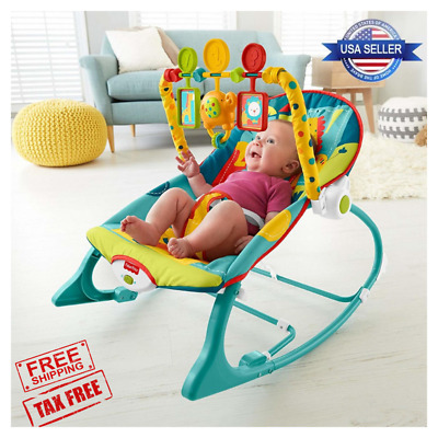 Portable Infant to Toddler Rocker Bouncer Seat Baby Chair Bed Swing Musical Toy