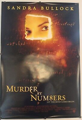"""Murder by Numbers 2002 Double Sided Original Movie Poster 27"""" x 40"""""""