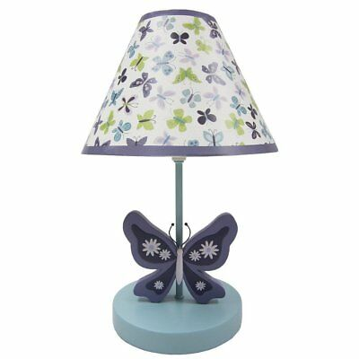 NoJo Beautiful Butterfly Collection Lamp & Shade Infant Baby Girl Nursery
