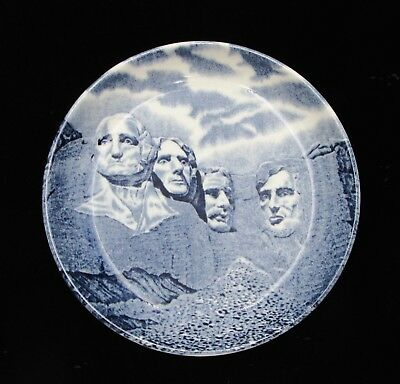 Vintage Blue Mt. Rushmore Small Collectors Souvenir Plate Johnson Bros. England