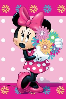 Disney Minnie Mouse Flowers Kids Fleece Blanket