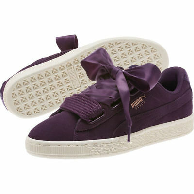 PUMA Suede Heart VR Women Sneakers Shoes Plumt-Rose Gold-WhisperWhite 8 c2c21eb83