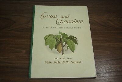1899 Walter Baker & Co Cocoa and Chocolate Book Dorchester, MASS New Edition