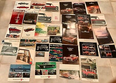 Vintage Lot of 34 Plymouth 1960's Pamphlets Brochures