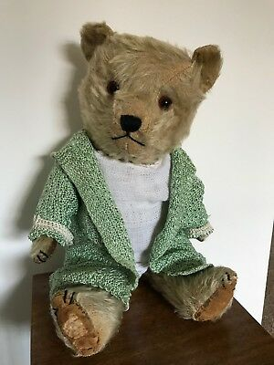 "ANTIQUE 1940's OLD VINTAGE BRITISH CHILTERN TEDDY BEAR ""EMILY"""