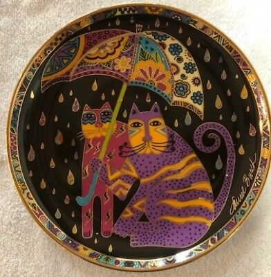 Laurel Burch NEW Collector Limited Edition Porcelain Plate Fair Weather Felines