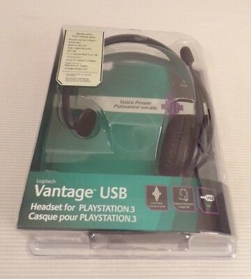 LOGITECH Vantage USB Headset Mic for playstation 3 Factory Sealed NEW