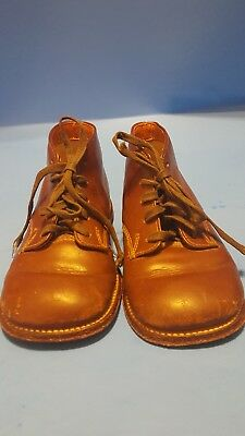 Vintage Buster Brown Children's  Shoes Brown Leather 5-1/2