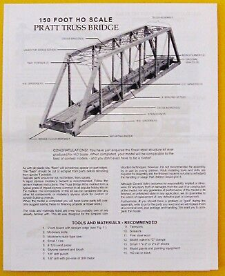 Ho Central Valley 150' Pratt Truss Bridge Kit