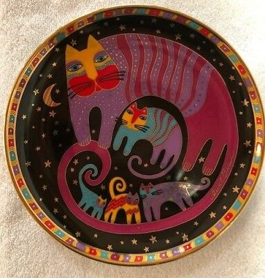 Laurel Burch NEW Collector Limited Edition Porcelain Plate Feline Family