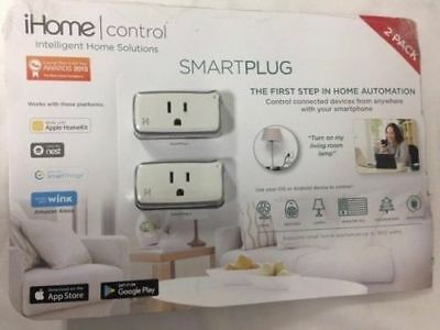 IHOME CONTROL SMART Plug iSP5 Apple HomeKit Android Nest Alexa Compatible 2  Pack