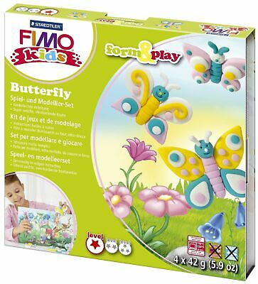 "Modelliermasse FIMO® Kids Materialpackung Form & Play ""Butterfly"", 4 x 42 g"
