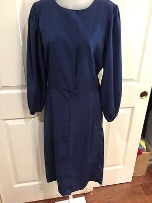 EUC  Authentic Lancaster PA Custom Blue Handmade Old Order Amish Polyester Dress