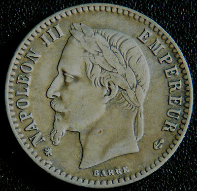 France Napoleon lll 50 Centimes 1864A  #526012