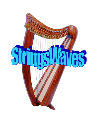Celtic Irish Harp, Hand Made, With Carry Bag and Tuning Key, Glossy Finish