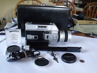 Excellent! Canon Super 8 Auto Zoom 814 with Case,and Accessories - Works Great!