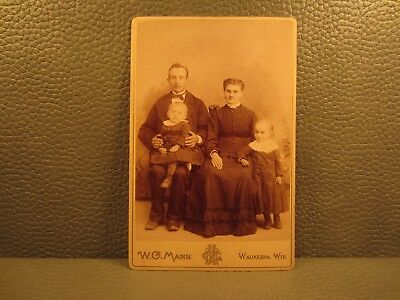 Victorian Antique Cabinet Card Family Photo