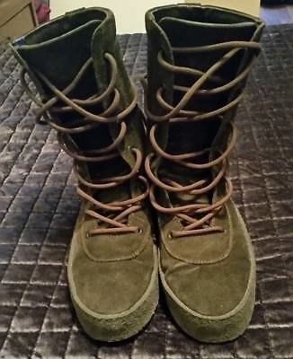 05972233626 Yeezy Crepe Boots Season 2 Size 46 (us 12) Brown velour Fits size 11