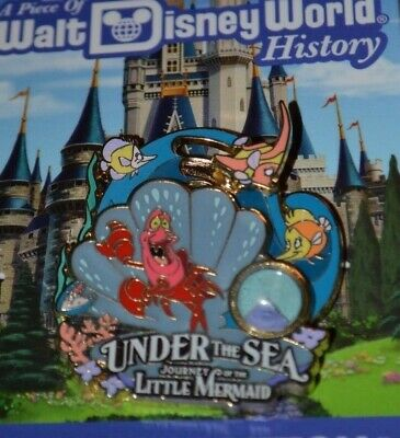 Disney World Piece Of History Little Mermaid Pin Le 1500 New On Card